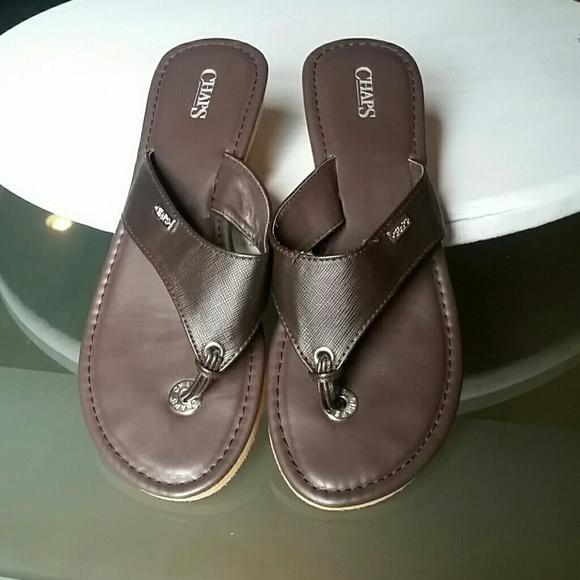aba022e9b781 Chaps Shoes - Ladies Chaps Ralph Lauren Brown Sandals